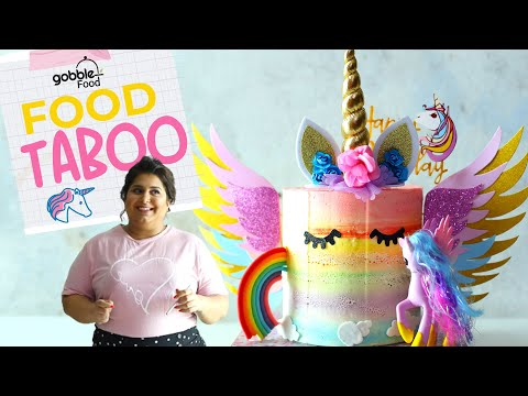 Gobble | Rainbow Cake Challenge | Unicorn Cake | Food Taboo