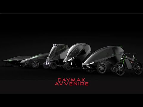 The Daymak Avvenire series consist of 6 unique electric vehicles ranging from electric bicycles, to cars, and even a personal flying vehicle!