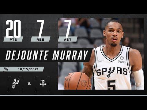 Dejounte Murray's 20 PTS, 7 REB & 7 AST lead Spurs past Rockets