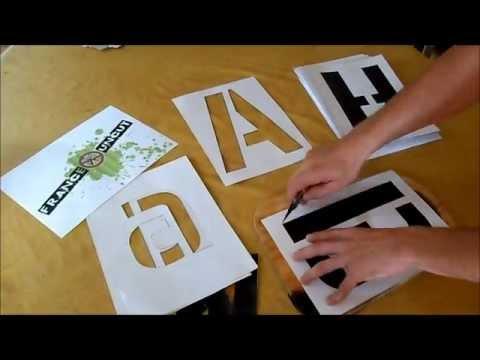 Ralise Un Alphabet En Pochoir YouTube