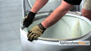Rear Dryer Drum Felt Seal  How To Replace  YouTube