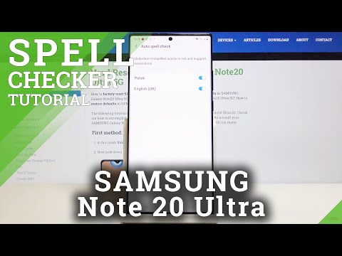 How to Enable Spell Checker in SAMSUNG Galaxy Note 20 Ultra – Enable Language Tool