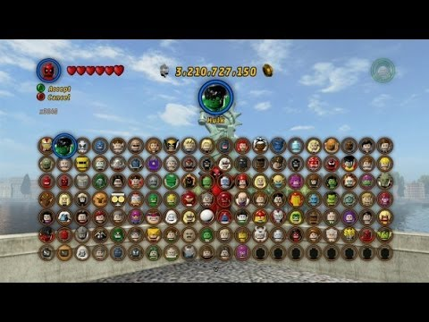 LEGO Marvel Super Heroes All Playable Characters