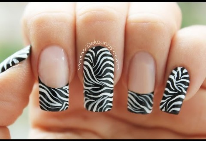 Decoración De Uñas Tigre Animal Print Tiger Animal Print Nail Art