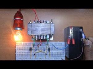 Power Inverter 12V to 230V, 220V, 120V, NEW circuit diagram, very easy, homemade, one unit