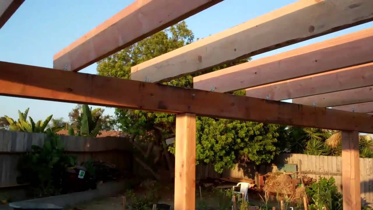 Backyard Patio Cover - End of Day (07 31 2011) - YouTube on Backyard Patio Cover  id=43081