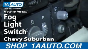 How To Install Replace Fog Light Switch 200002 Chevy Suburban  YouTube