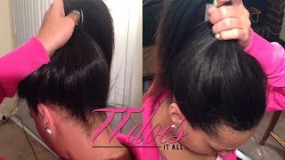full sew in ponytail hairstylegalleries