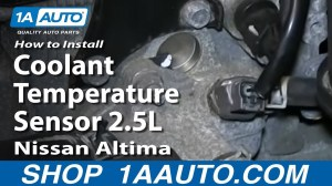How To Install Replace Coolant Temperature Sensor 25L Nissan Altima Sentra  YouTube