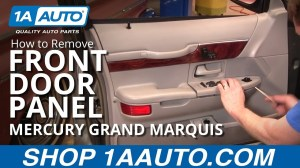 How To Install Replace Front Door Panel Mercury Grand Marquis 9802 1AAuto  YouTube