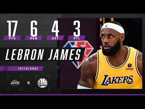LeBron James records 17-6-4-3 for Lakers vs. Warriors