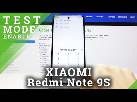How to Enter Hardware Test Mode in XIAOMI Redmi Note 9s - Secret Codes and Hidden Options