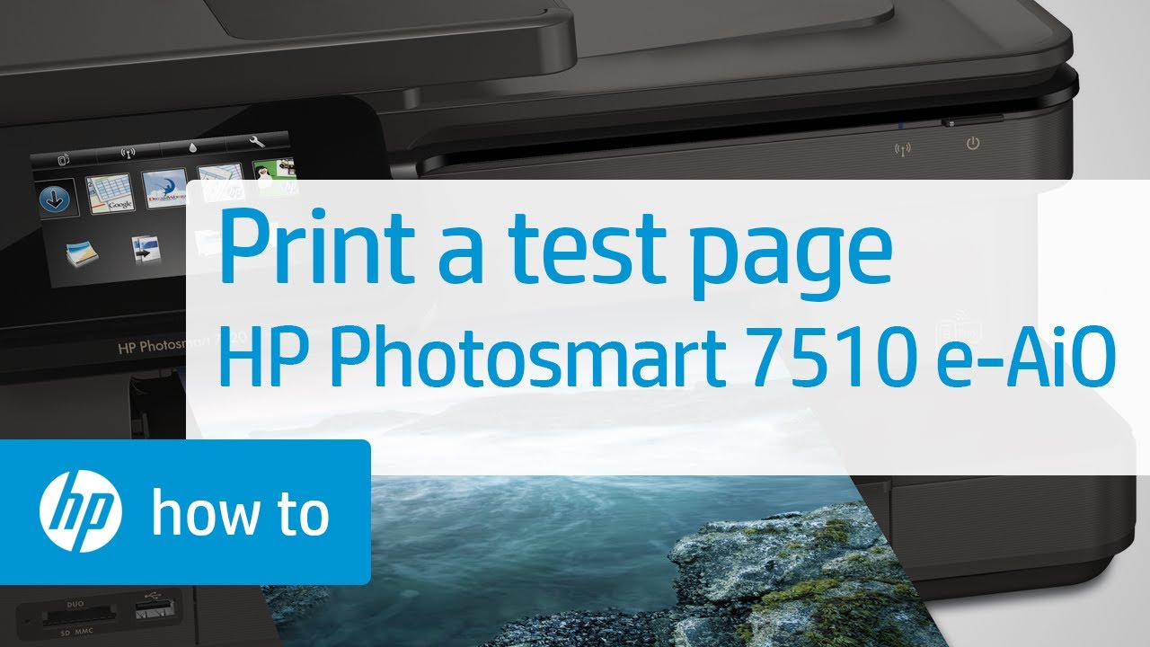 Printing A Test Page Hp Photosmart 7510 E All In One