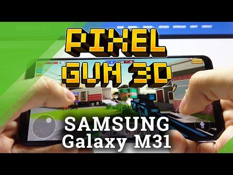 Gaming Quality Test on Samsung Galaxy M31 - Pixel Gun 3D Gameplay