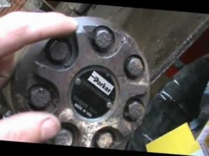 how to disassemble a parker hydraulic wheel motor  YouTube