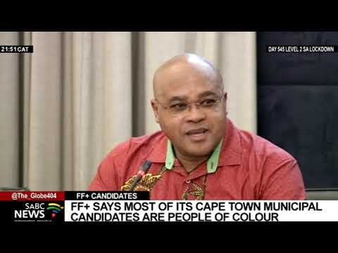 LGE 2021   FF Plus announces its Cape Metro mayoral candidate