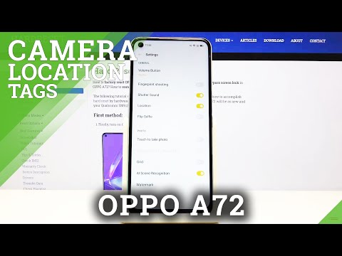 How to Turn On/Off Camera Location Tags in Oppo A72 - Customize Geotagging