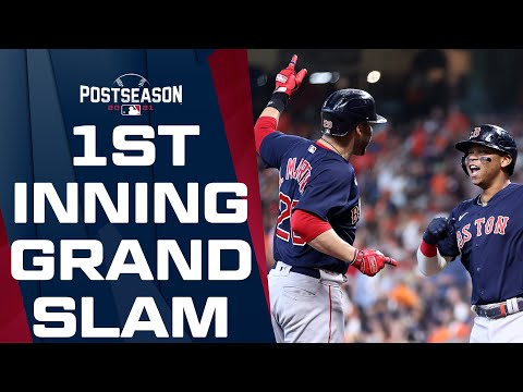 Red Sox open ALCS Game 2 with a BANG! J.D. Martinez launches a first-inning GRAND SLAM!