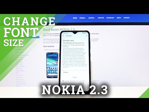 How to Change Font Size in Nokia 2.3 – Display Settings