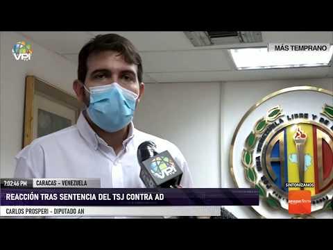 Caracas - Carlos Prosperi rechazó la sentencia del TSJ sobre Acción Democrática - VPItv