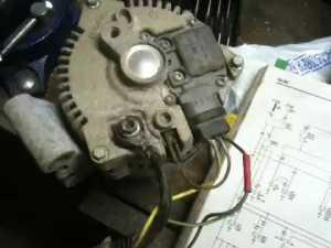 97 Ford escort alternator wiring