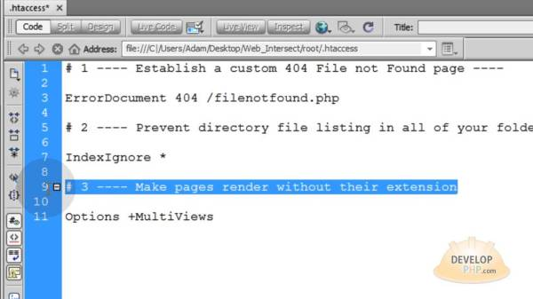 Link to pages without their extension .html .php htaccess ...