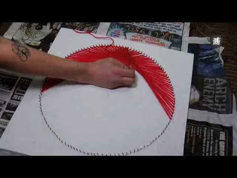 70 S String Art Tutorial Decor It Yourself Youtube