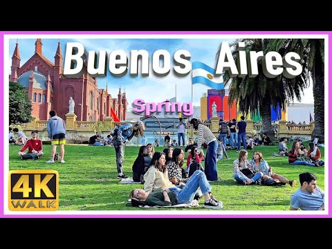 【4K】WALK Buenos Aires ARGENTINA (Spring) 4K video TRAVEL VLOG
