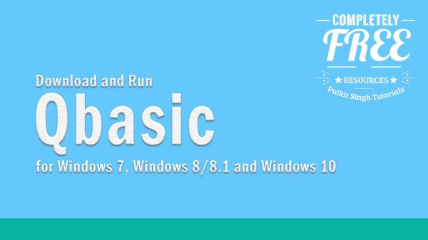 Download and Run QBASIC in Windows 7 ( Latest 2013 ) - YouTube