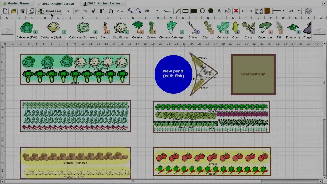 Vegetable Garden Planner - YouTube on Patio Planner id=33054