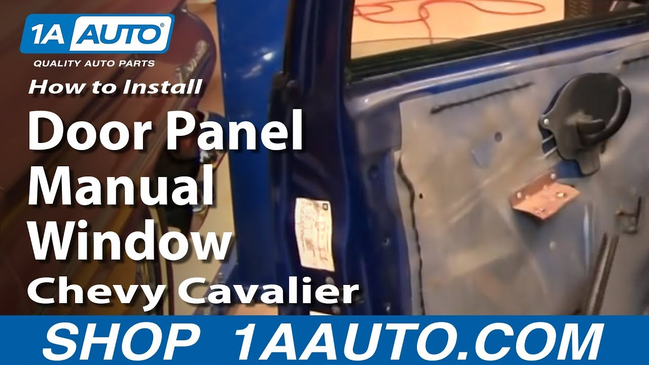 How To Install Replace Front Door Panel Manual Windows