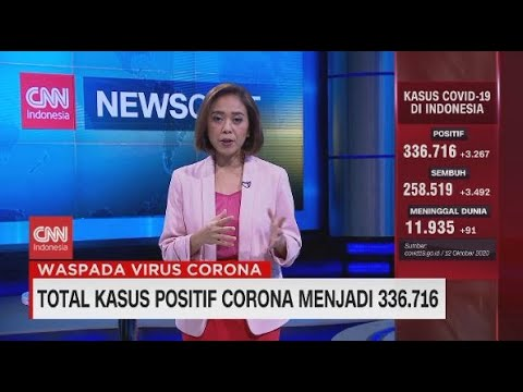 Kasus Positif Corona Bertambah Menjadi 336.716