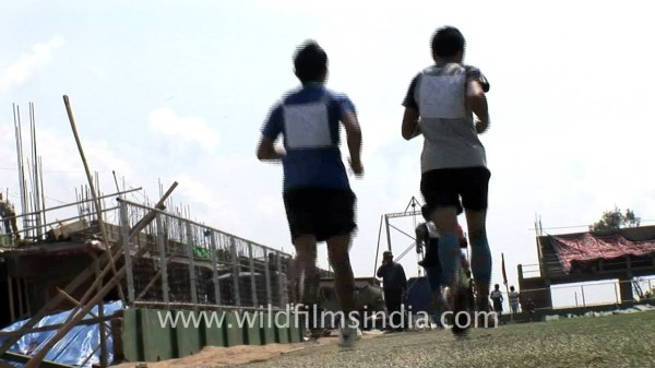 Indian Army recruitment run in Aizawl - YouTube