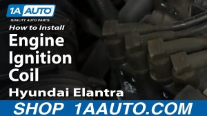 How To Install Replace Engine Ignition Coil 200306 Hyundai Elantra 20L  YouTube