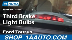 How To Install Replace Third Brake Light Bulbs Ford Taurus