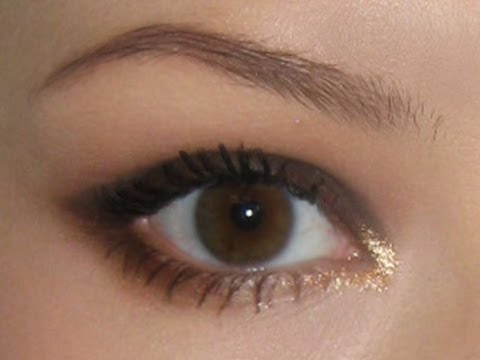 Вечерний, корректирующий нависшее веко, макияж глаз - YouTube