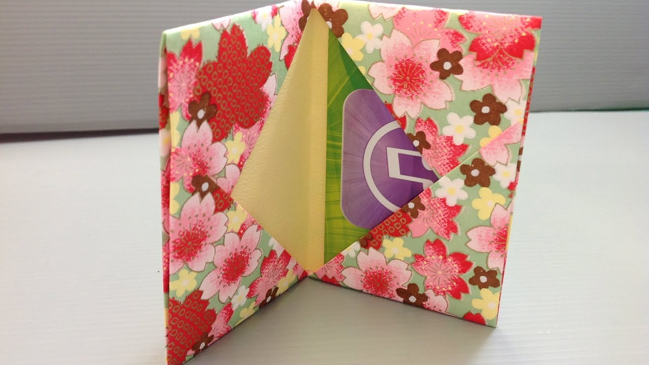 Origami Gift Card Holder For Back To School Shopping YouTube