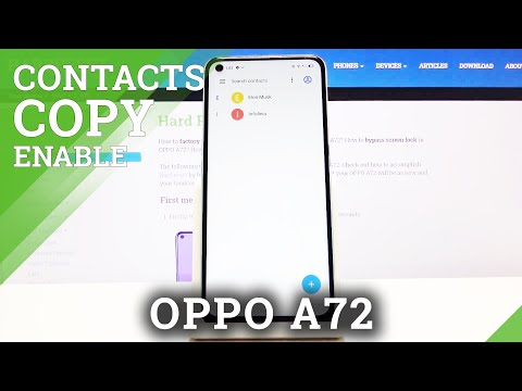 How to Copy Contacts from SIM Card to OPPO A72?