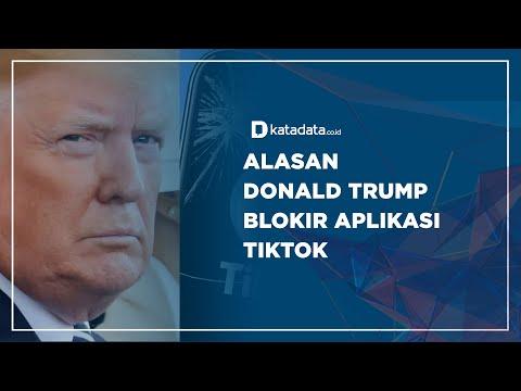 Alasan Donald Trump Blokir Aplikasi TikTok | Katadata Indonesia