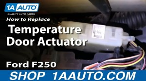 How To Install Replace Heater AC Temperature Door 9907 Ford F250 F350 Super Duty 1AAuto