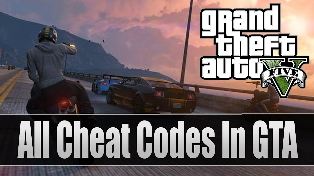 GTA 5 ALL Cheat Codes Full List PS3 And Xbox 360 Grand Theft Auto V Cheats YouTube