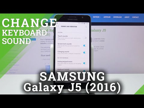 How to Activate Touch Sound in SAMSUNG GALAXY J5 (2016) - Keyboard Sound Settings