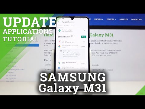 How to Update Apps in SAMSUNG Galaxy M31 – Download New App Versions