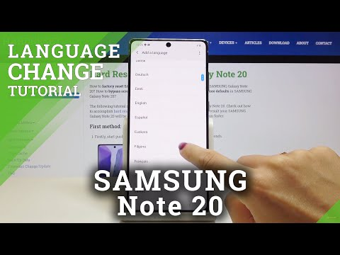 How to Change System Language in SAMSUNG Galaxy Note 20 - Language List