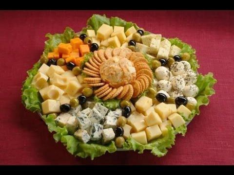 Сырная нарезка на праздничный новогодний стол 2014. - YouTube