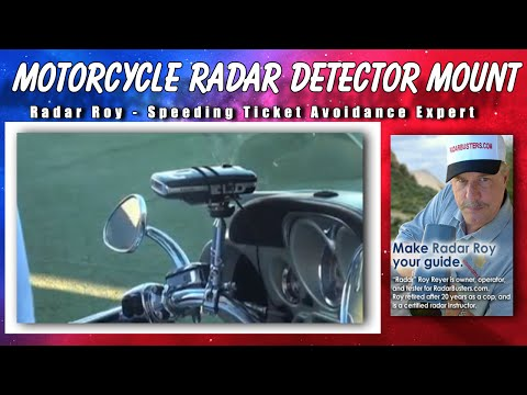 Radar Detector Motorcycle Mount YouTube