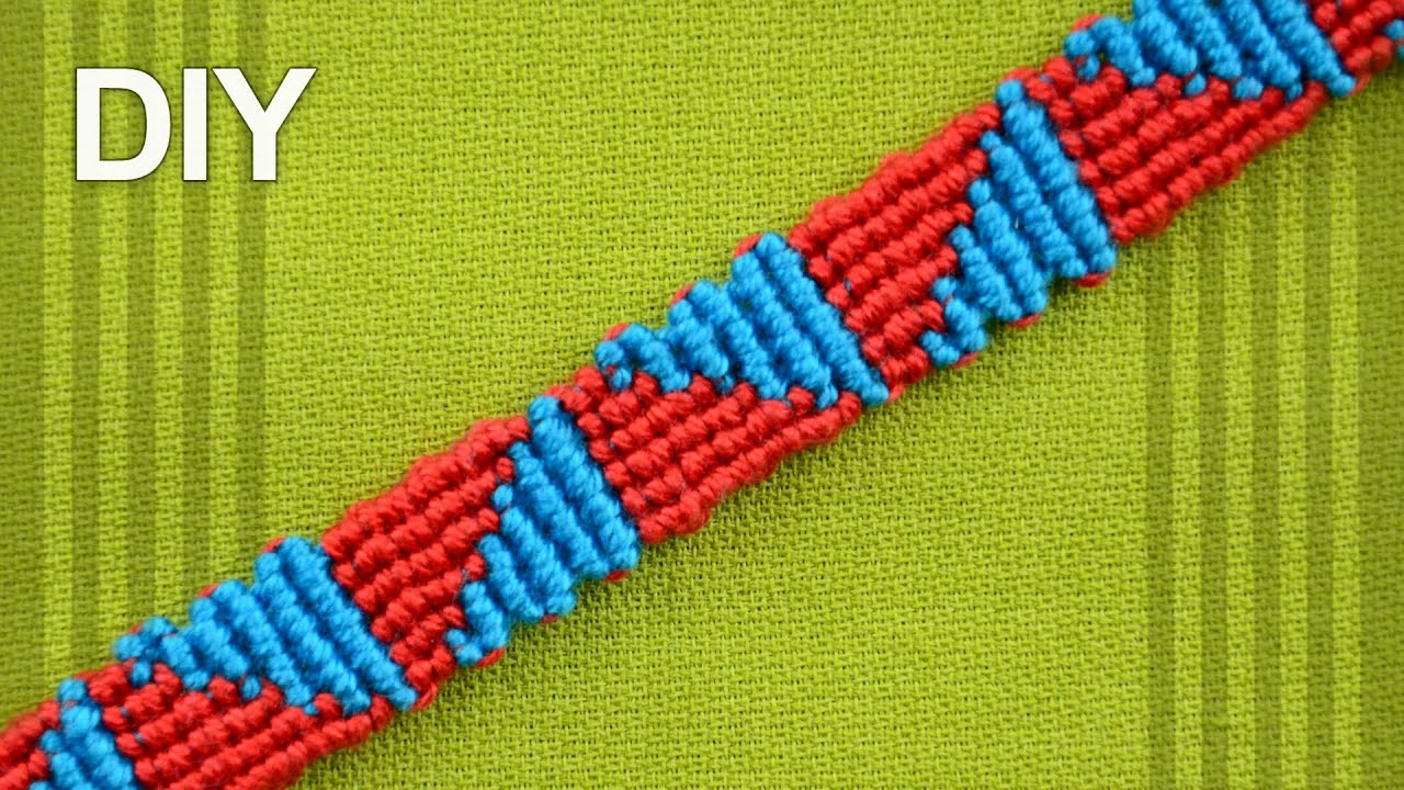 How To Make A Triangle Friendship Bracelet DIY YouTube