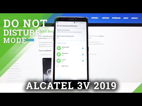 How to Activate Do Not Disturb Mode in ALCATEL 3V 2019 – Silent Mode