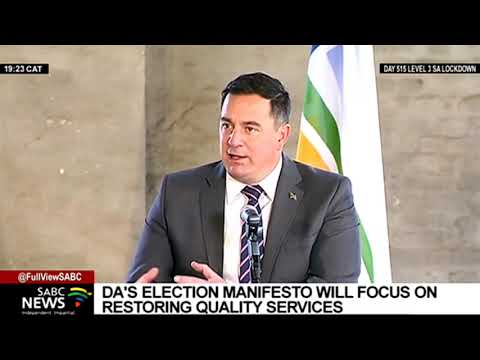 LGE 2021 | DA's election manifesto will focus on restoring quality services: John Steenhuisen