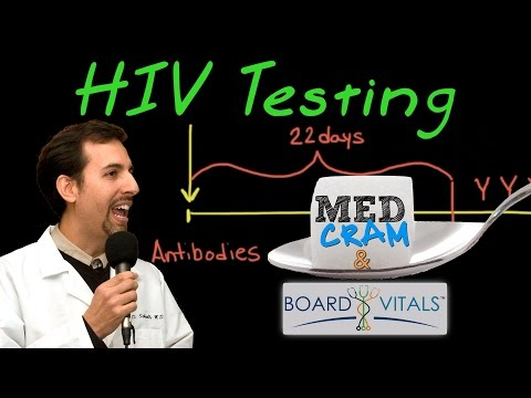 HIV Testing - A BoardVitals Question Explained Clearly by MedCram.com